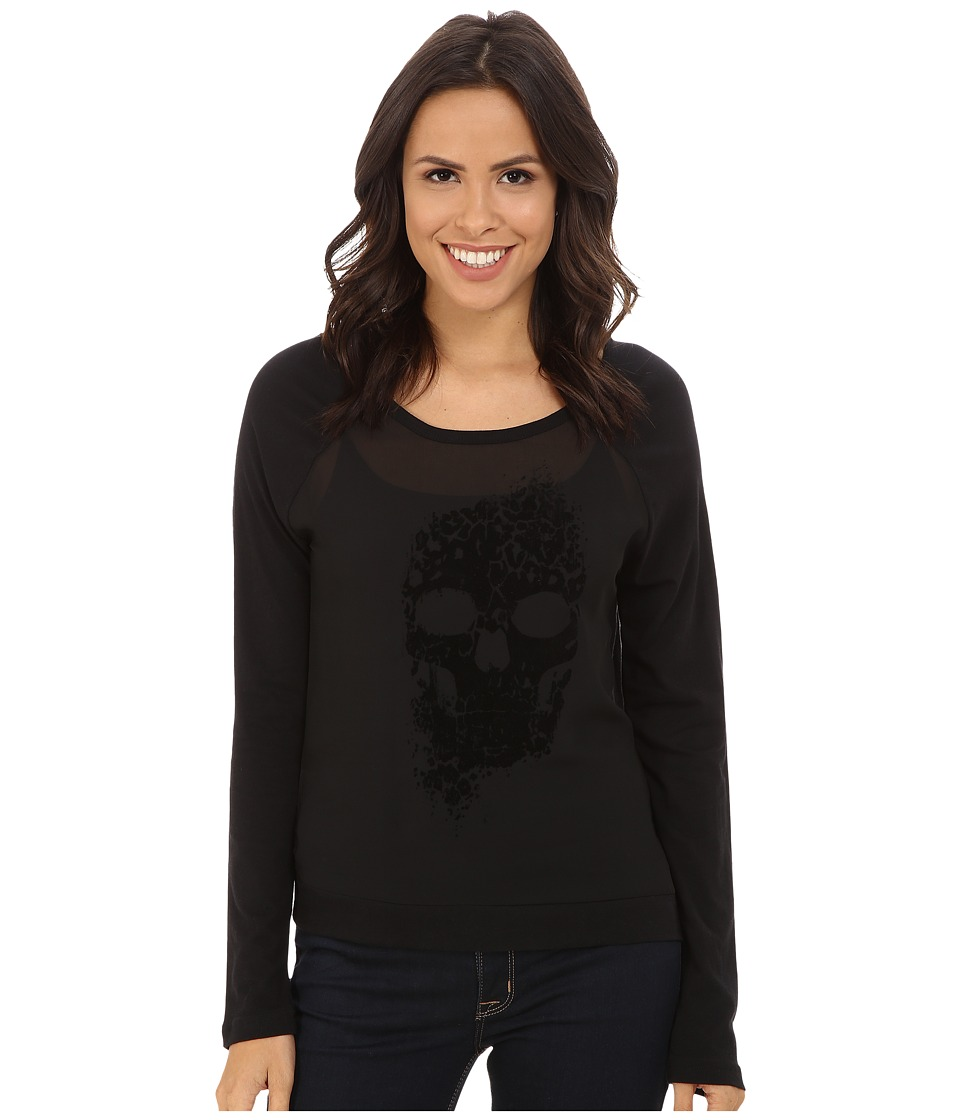 Cruel - Long Sleeve Cotton Modal Jersey (Black) Women's T Shirt