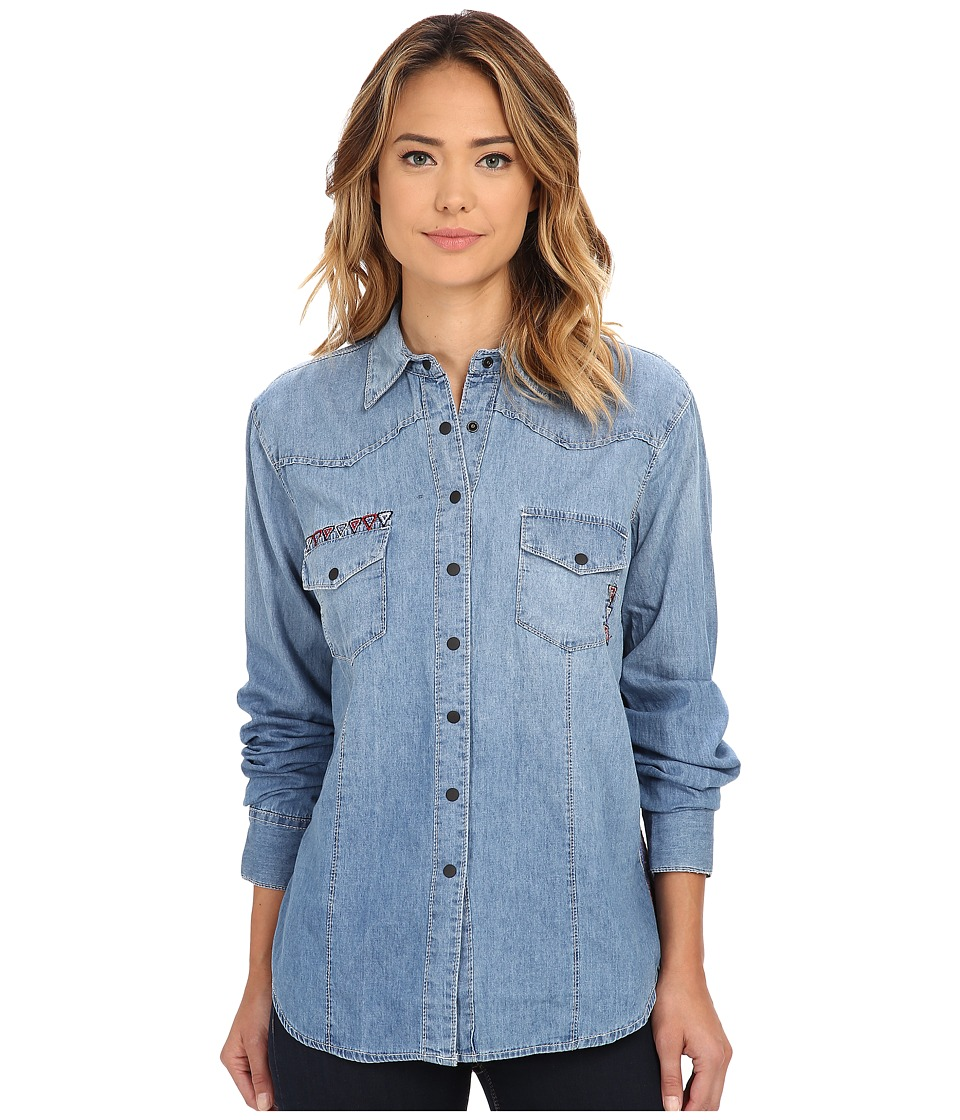 Cruel - Long Sleeve Arena Fit Denim with Yoke (Indigo) Women