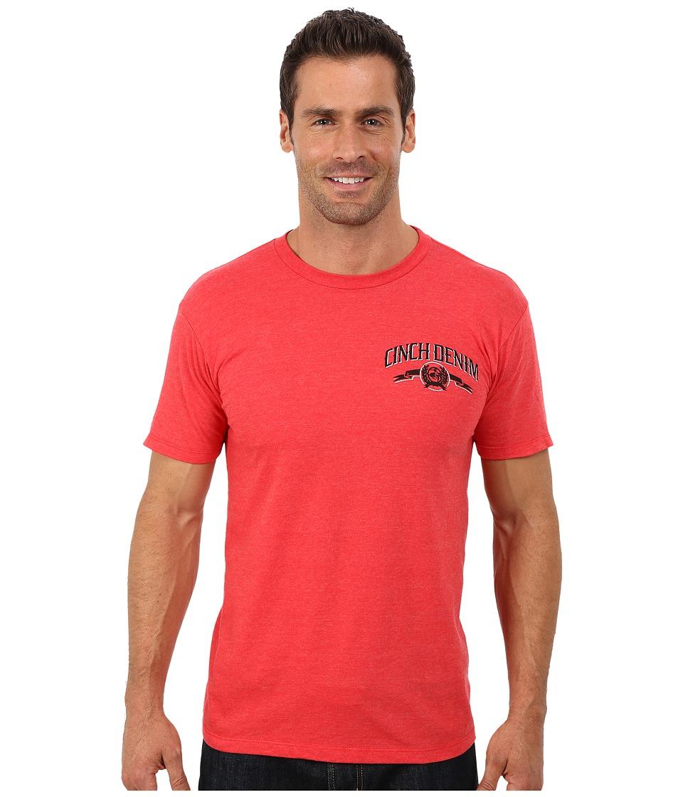 Cinch - Soft Hand Short Sleeve Jersey Tee (Red) Men