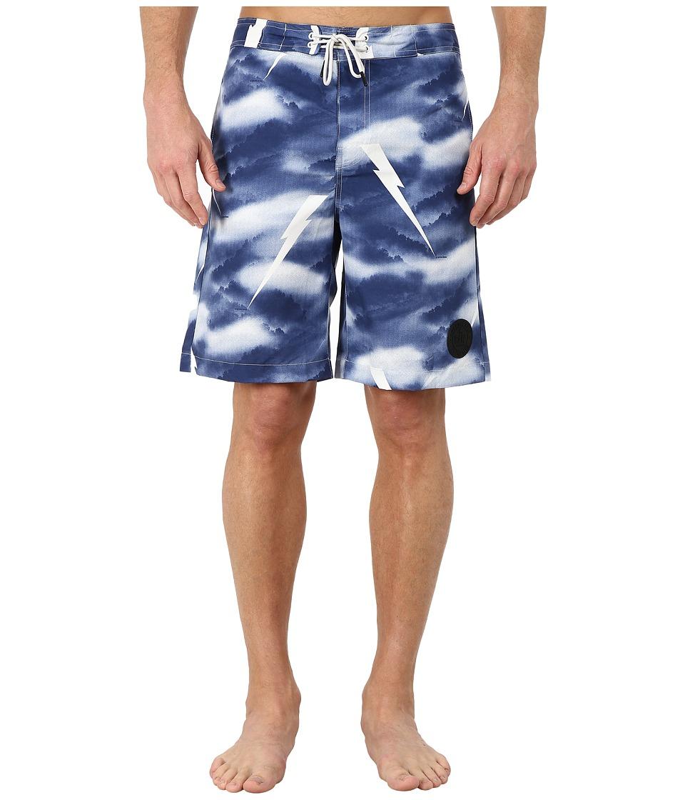 G-Star - Distressed Swim Shorts (Imperial Blue) Men's Swimwear