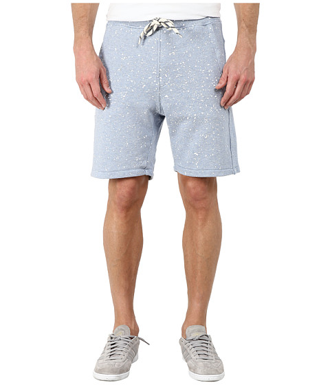 G-Star - Splatter Sweat Shorts (Pop Blue Heather) Men