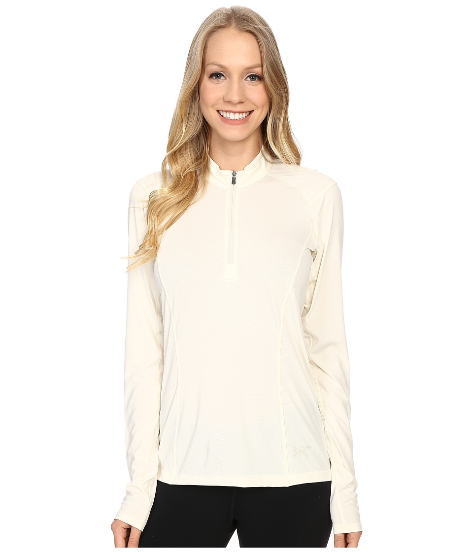 Arc'teryx - Skeena Zip Neck Long Sleeve (Vintage Ivory) Women's Clothing