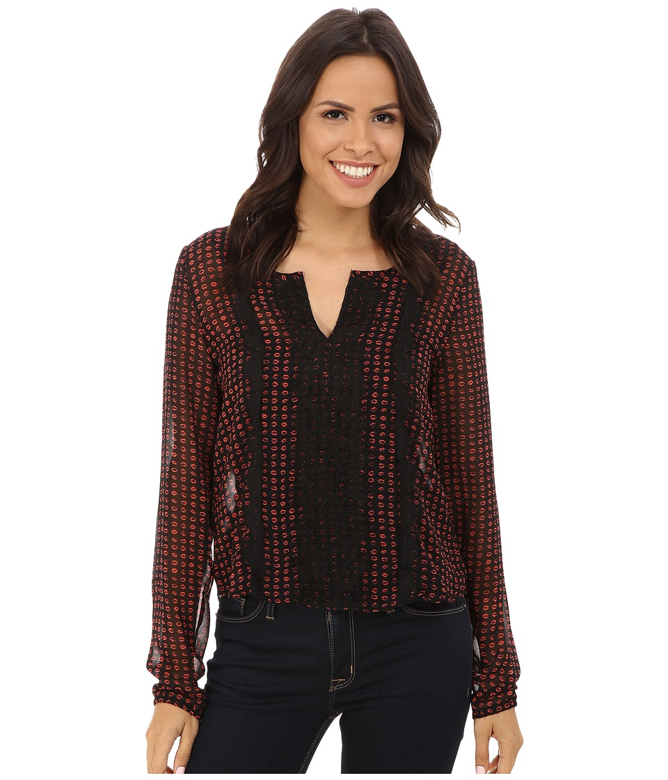 Cruel - Long Sleeve Peasant Blouse (Assorted) Women's Blouse
