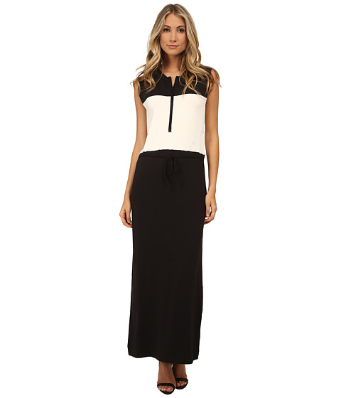 G-Star - Ultimate Stretch Katya Color Block Sleeveless Dress (Black/Milk) Women