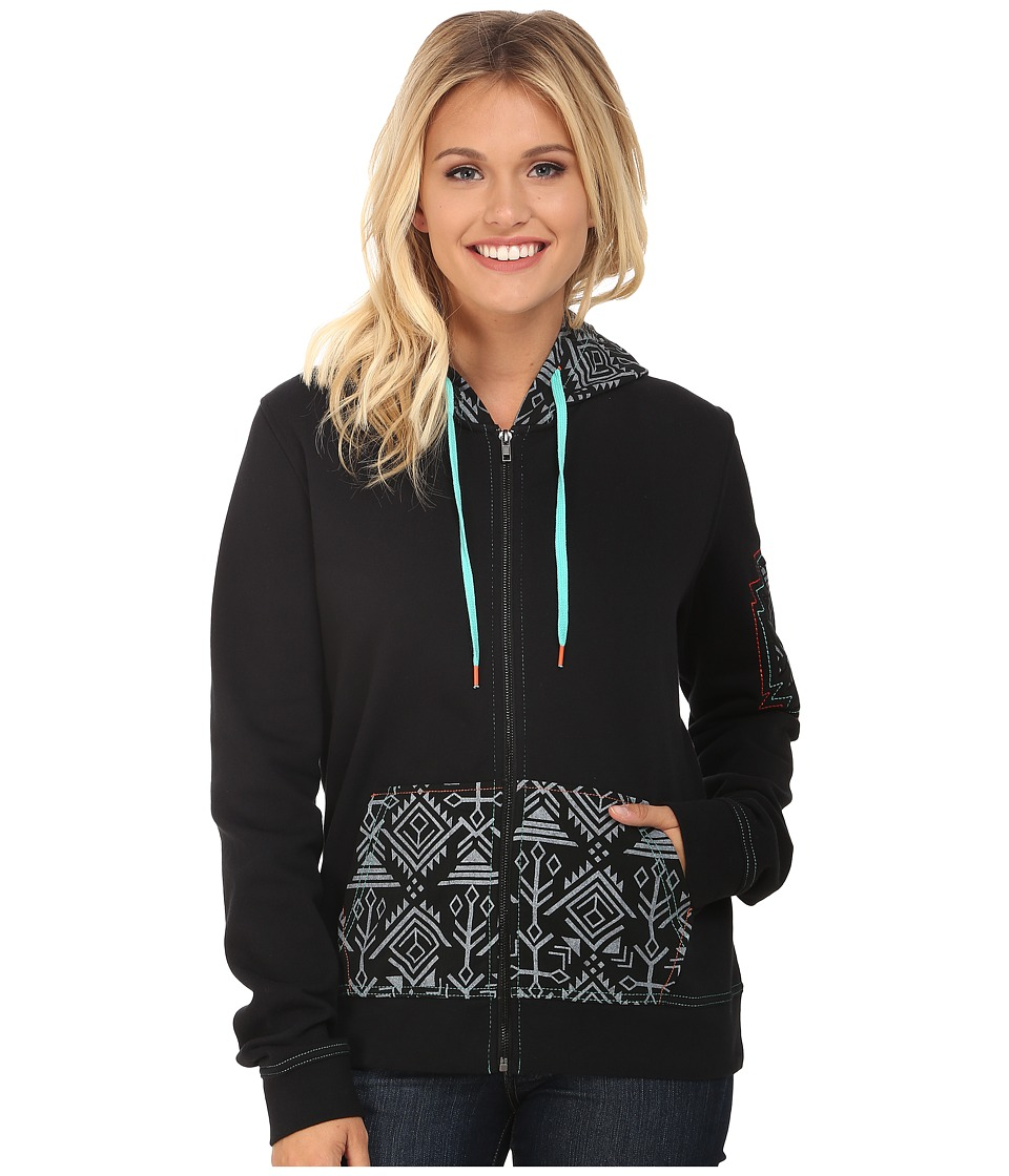 Cruel - Poly Fleece with Woven Canvas (Black) Women's Fleece