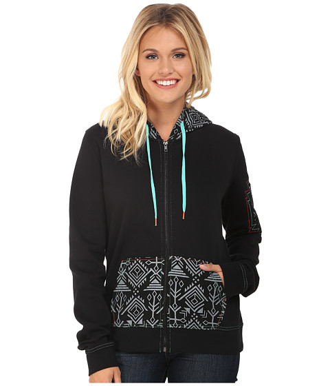 Cruel - Poly Fleece with Woven Canvas (Black) Women