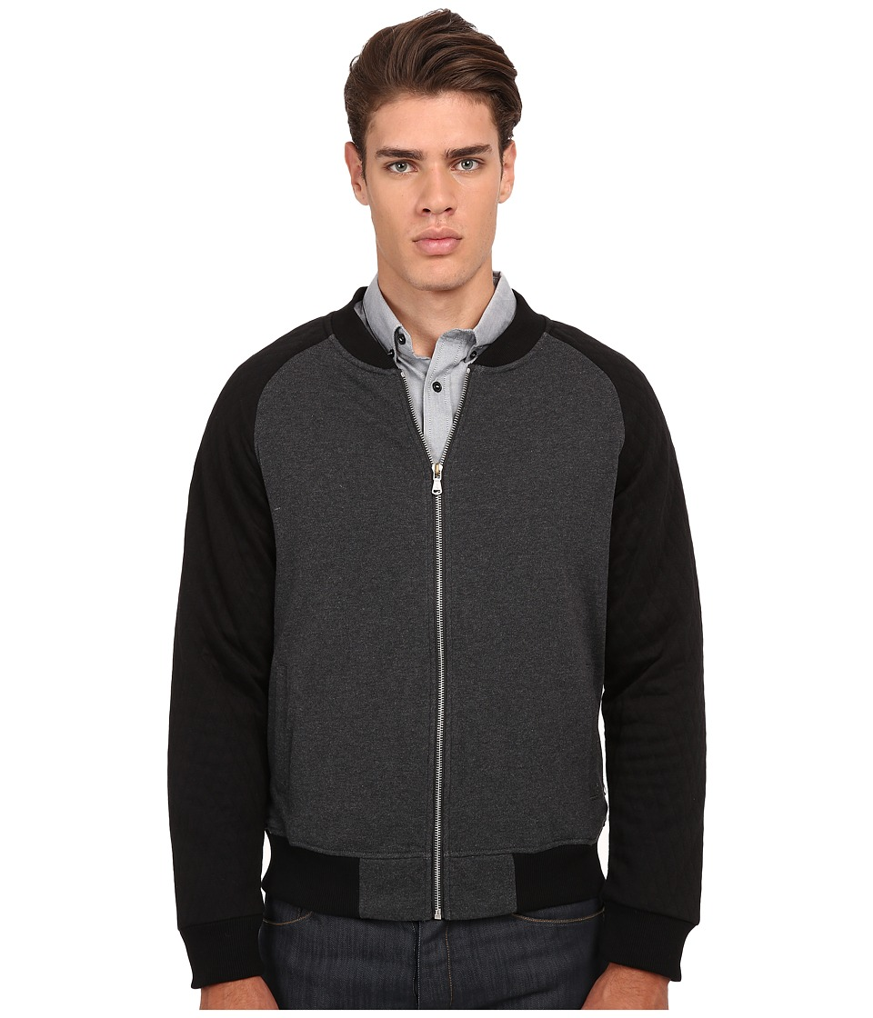 Howe - White Lie Knit Fleece Zip Up (Charcoal Grey Heather) Men's Clothing