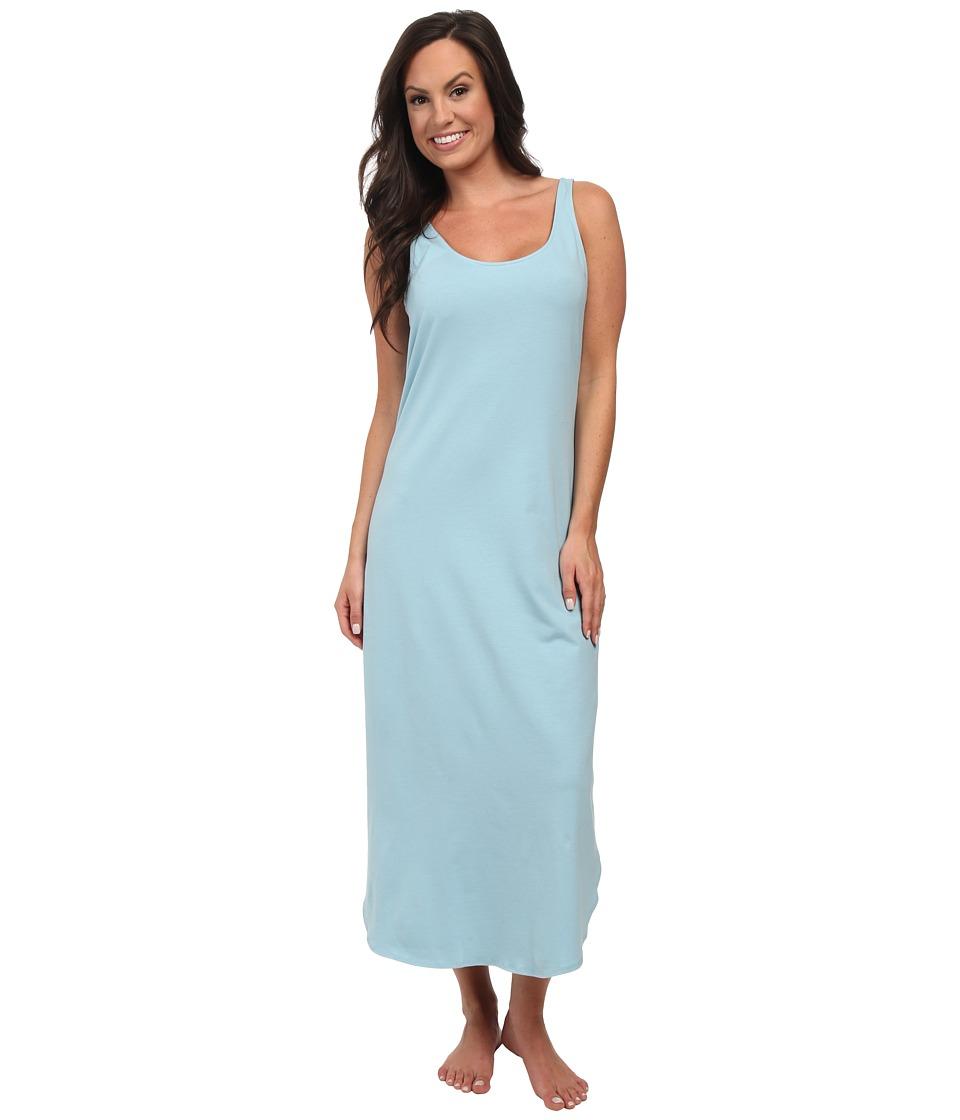Natori - Pima Paradise Tank Gown (French Blue) Women's Pajama