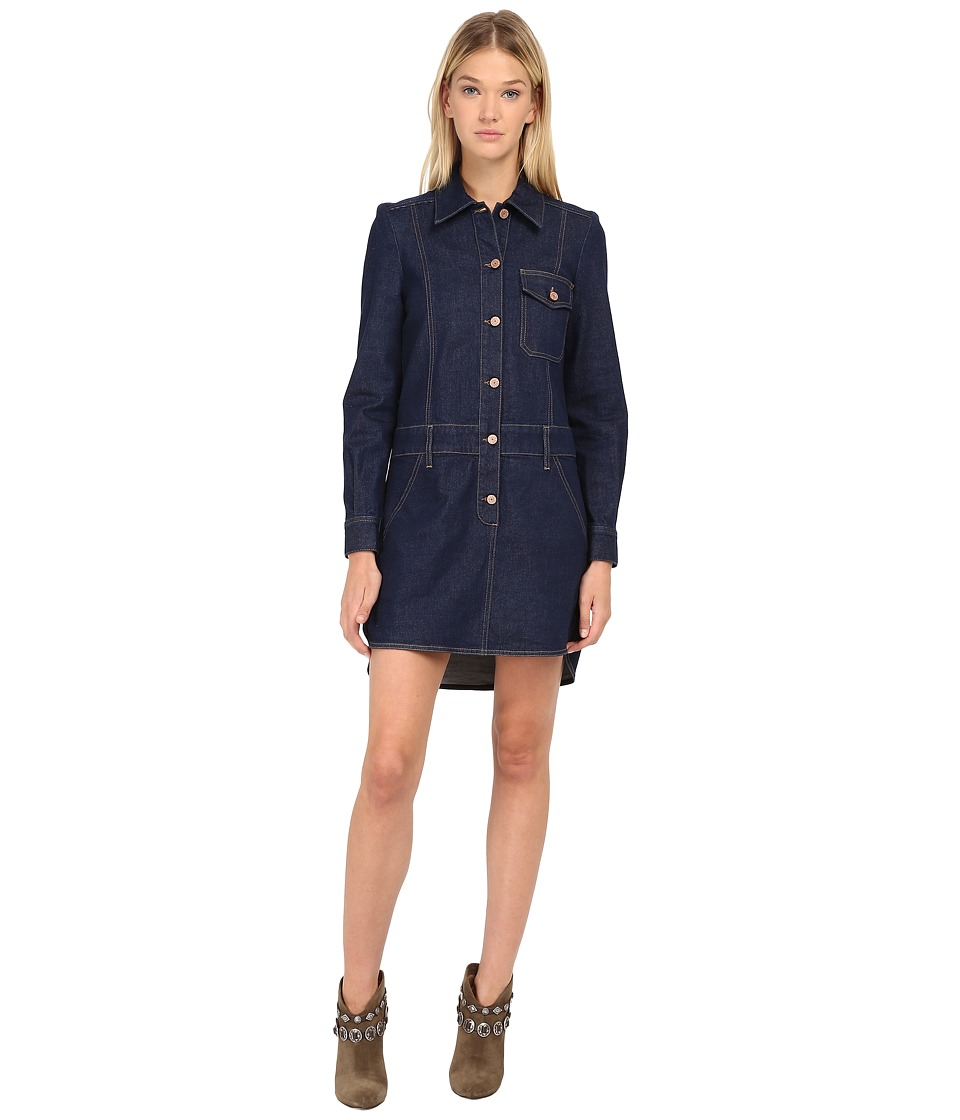 See by Chloe - Denim Button Up Dress (Indigo) Women's Dress