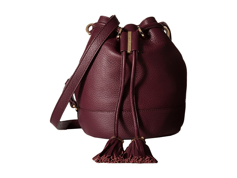 See by Chloe - Vicki Small Bucket With Crossbody Strap (Perfect Plum) Cross Body Handbags