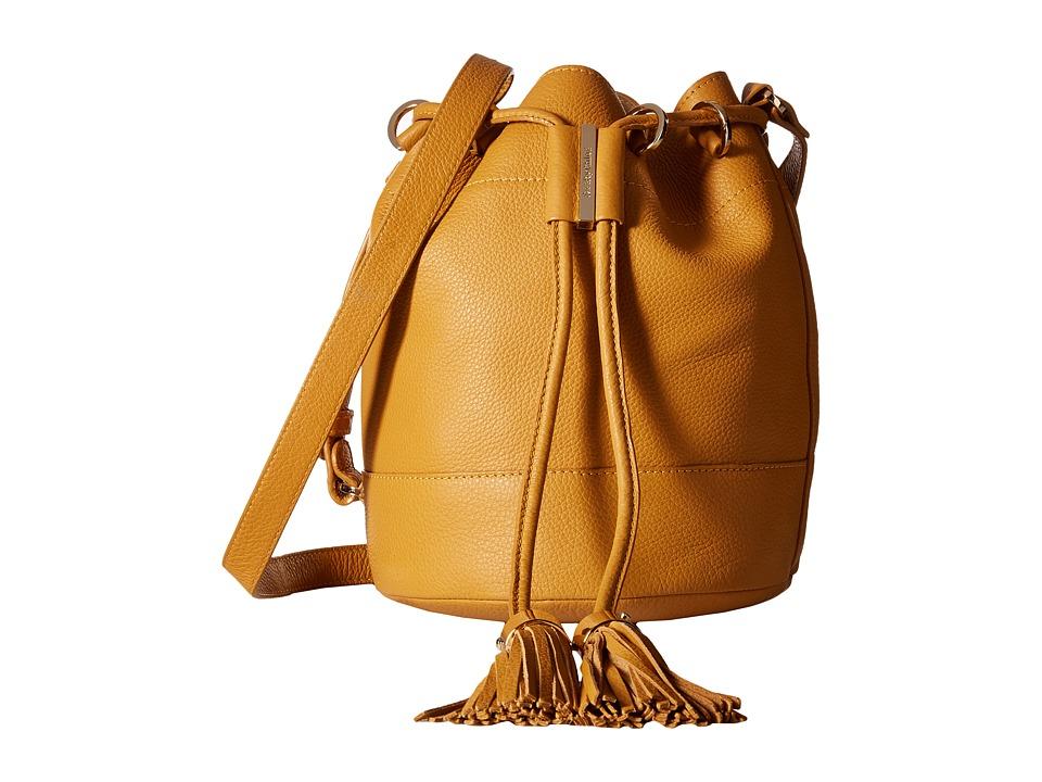 See by Chloe - Vicki Small Bucket With Crossbody Strap (Golden Glow) Cross Body Handbags