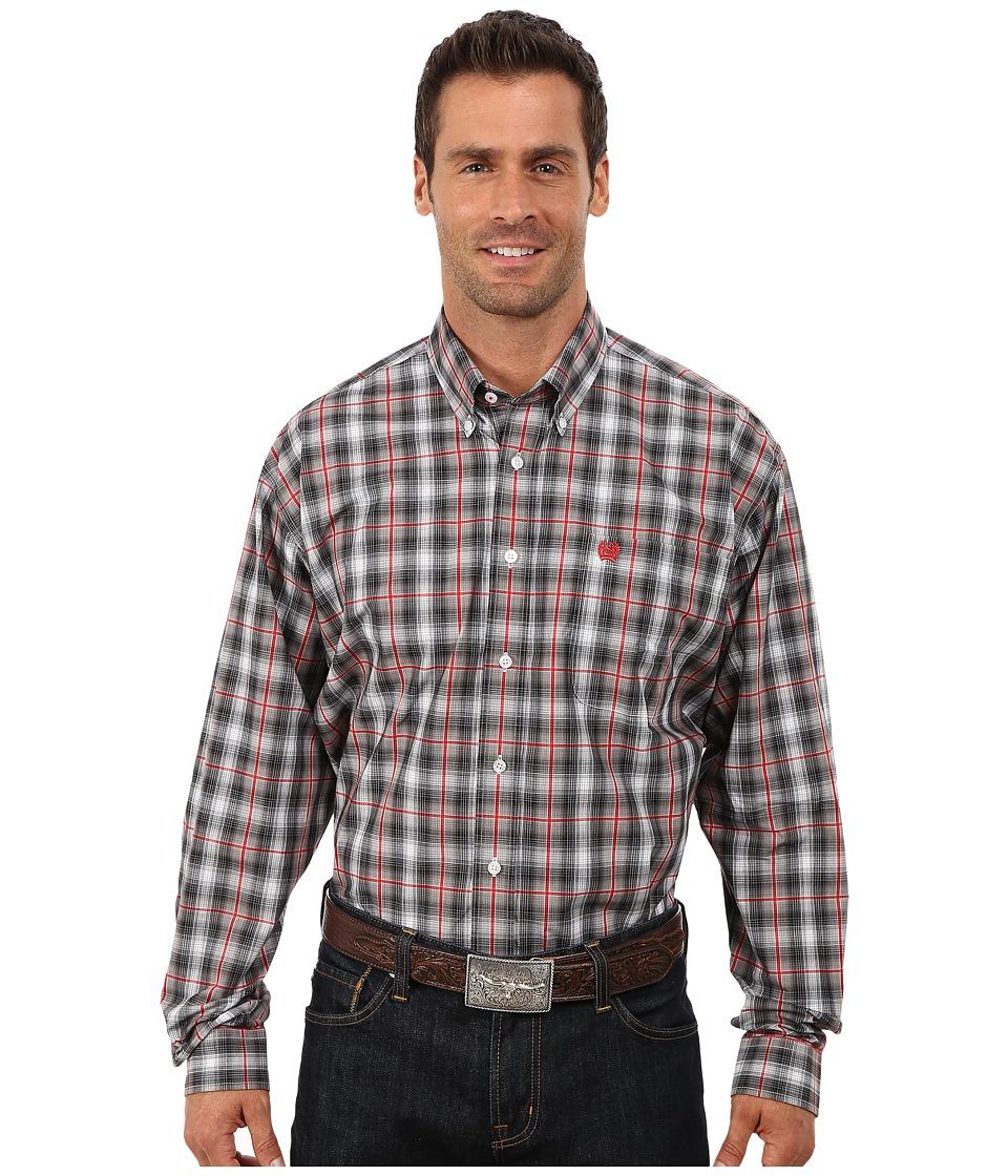 Cinch - Long Sleeve Plain Weave Plaid (Grey 1) Men