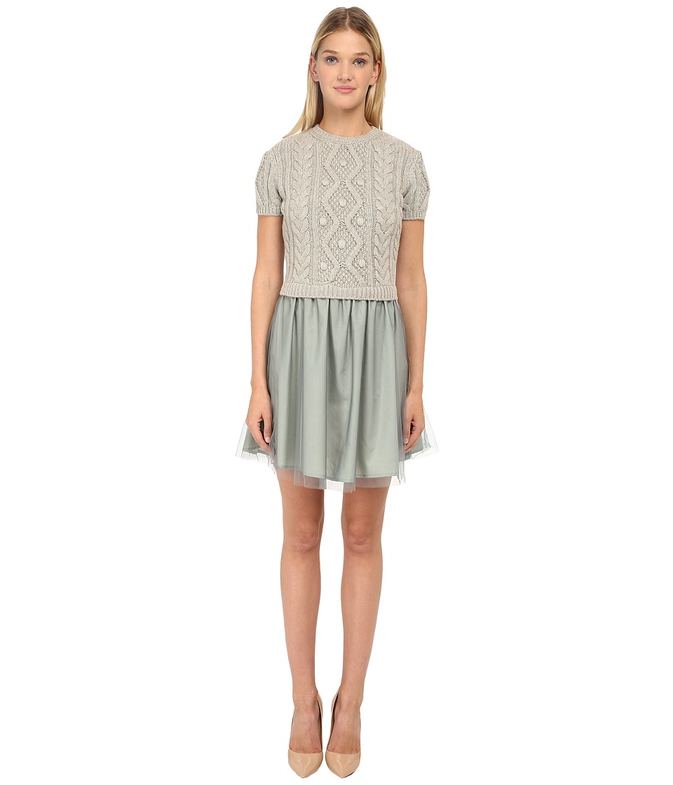 RED VALENTINO - Abito Maglia Dress (Azzurro) Women's Dress