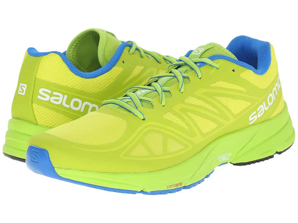 Salomon - Sonic Aero (Gecko Green/Granny Green/Union Blue) Men's Shoes
