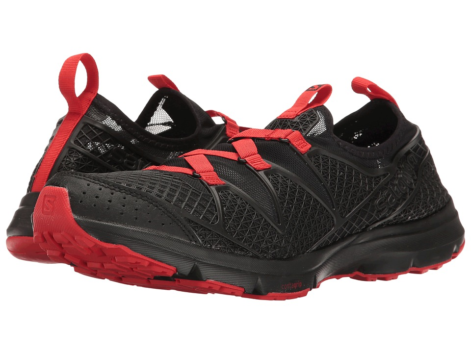 Salomon - Crossamphibian (Black/Black/Radiant Red) Men's Shoes