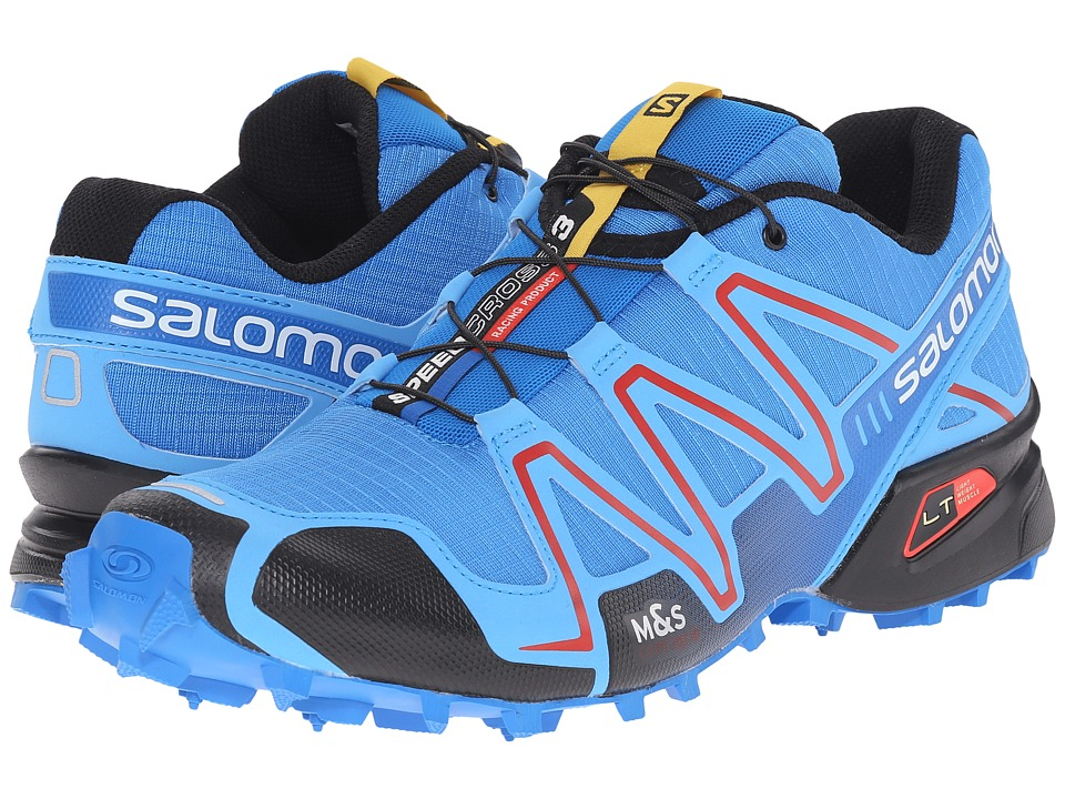 Salomon - Speedcross 3 (Bright Blue/Process Blue/Radiant Red) Men's Running Shoes