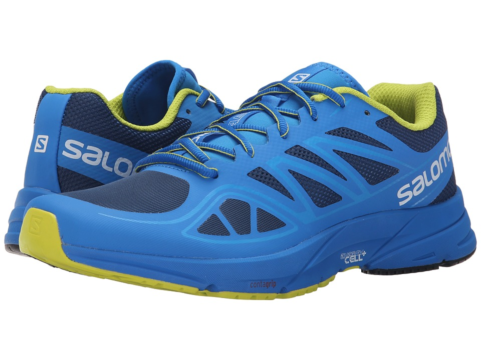 Salomon - Sonic Aero (Midnight Blue/Bright Blue/Gecko Green) Men's Shoes