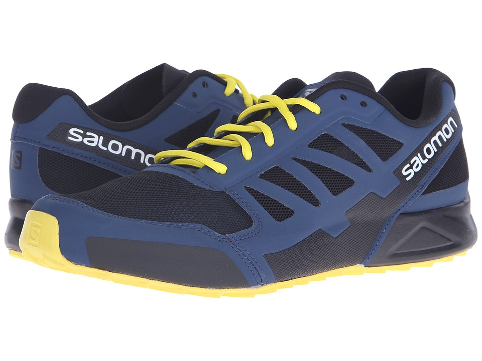 Salomon - City Cross Aero (Black/Slateblue/Corona Yellow) Men's Shoes