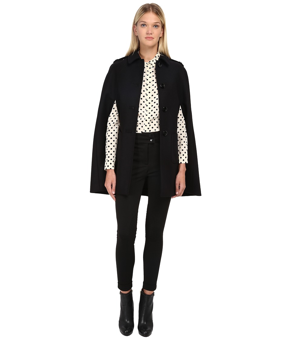 RED VALENTINO - Cappa Cape (Nero) Women's Coat