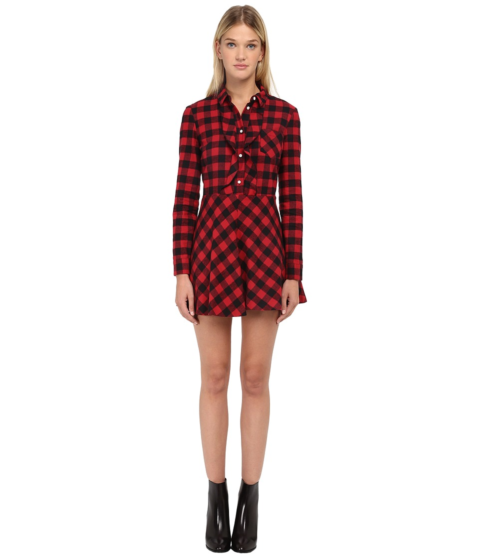RED VALENTINO - Abito Long Sleeve Dress (Ciliegia) Women's Dress