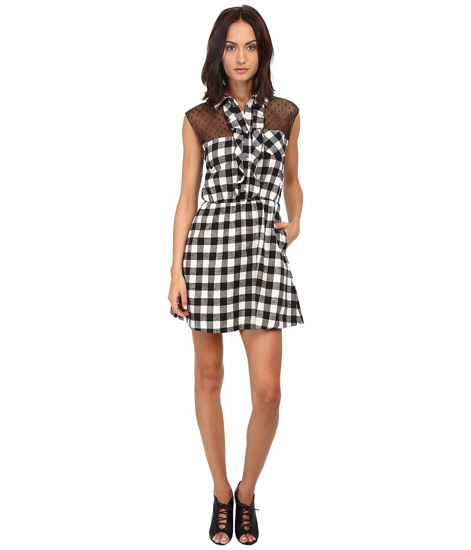 RED VALENTINO - Abito Sleeveless Dress (Avorio) Women's Dress