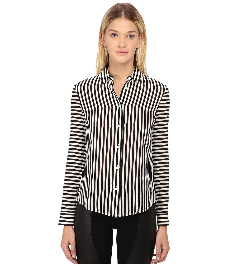 RED VALENTINO - Camicia Button Up (Nero) Women's Long Sleeve Button Up