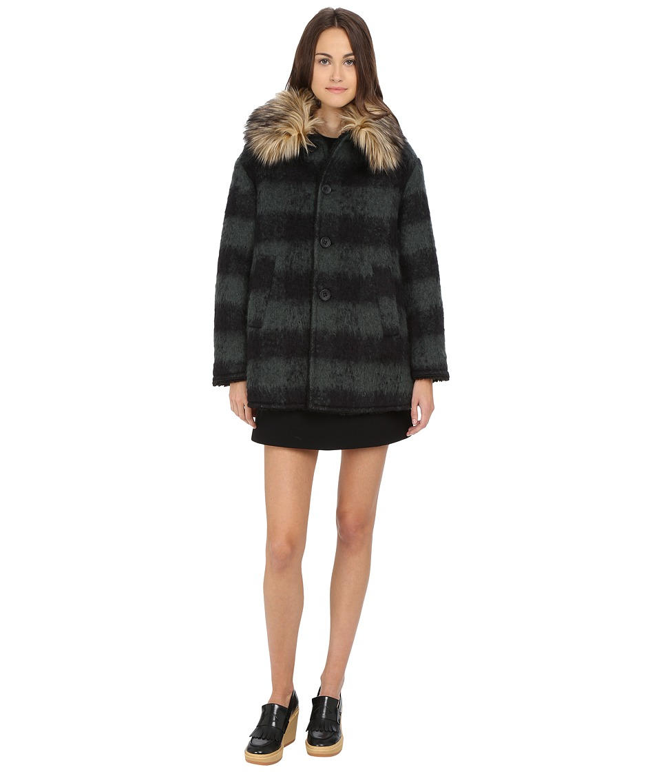 RED VALENTINO - Cappotto Coat (Verde) Women's Coat