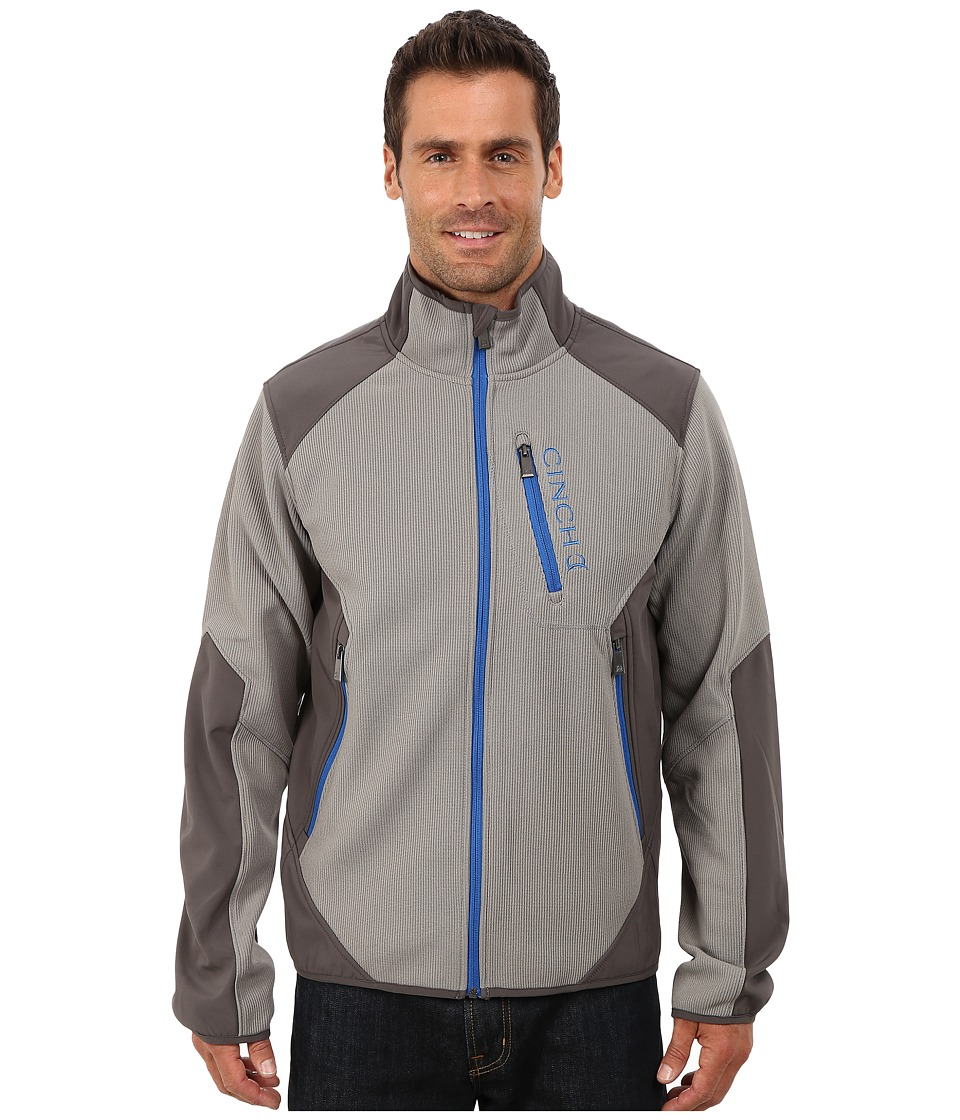 Cinch - Zip Front Bonded Sweater Jacket (Grey) Men