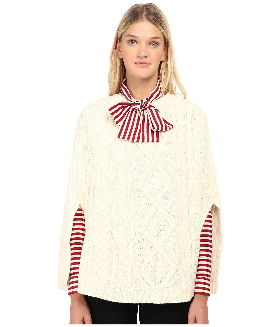 RED VALENTINO - Cappa Maglia Cape (Ecru) Women's Sweater