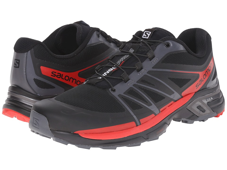 Salomon - Wings Pro 2 (Black/Dark Cloud/Radiant Red) Men's Shoes
