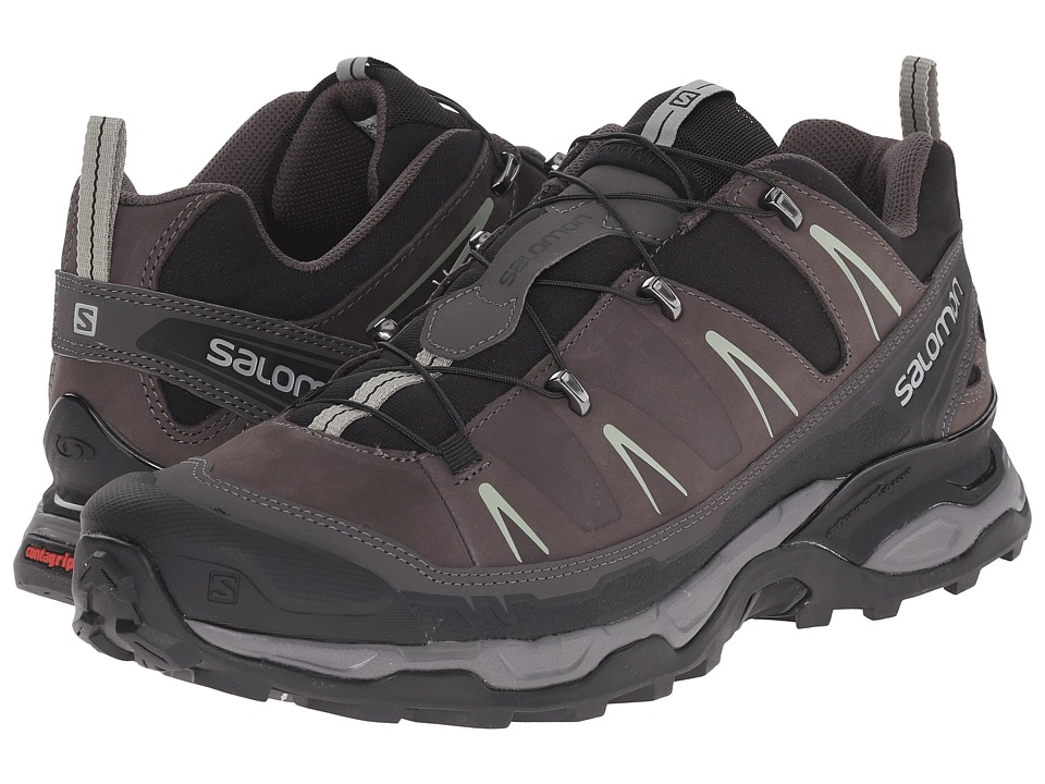 Salomon - X Ultra LTR (Black/Autobahn/Green Clay) Men's Shoes