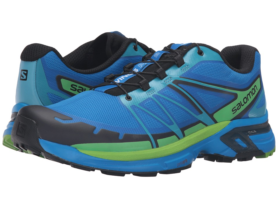Salomon - Wings Pro 2 (Bright Blue/Black/Tonic Green) Men's Shoes