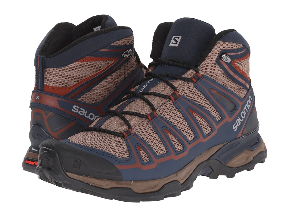 Salomon - X Ultra Mid Aero (Shrew/Deep Blue/Deep Red) Men's Shoes