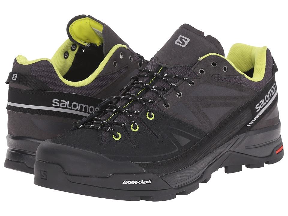 Salomon - X Alp LTR (Asphalt/Black/Gecko Green) Men's Shoes