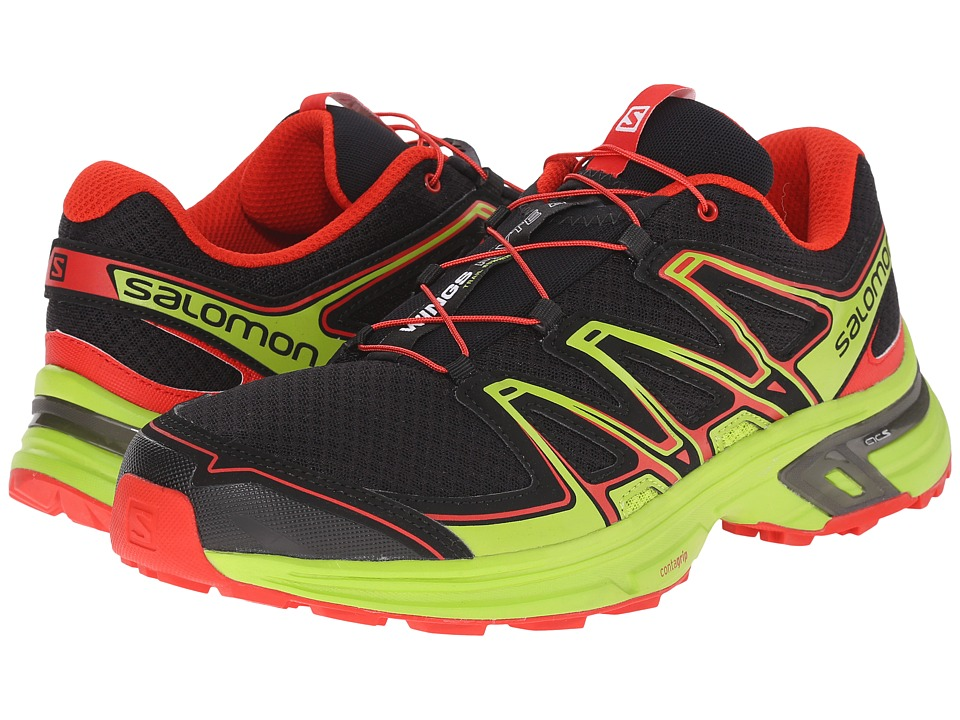Salomon - Wings Flyte 2 (Black/Granny Green/Radiant Red) Men's Shoes
