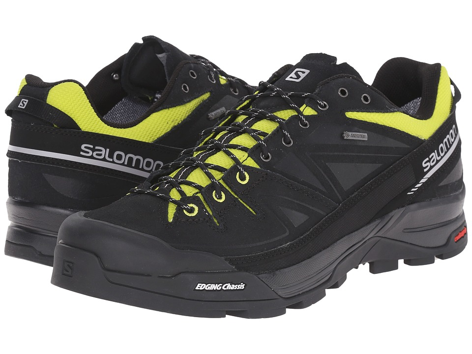 Salomon - X Alp LTR GTX(r) (Black/Gecko Green/Aluminium) Men's Shoes