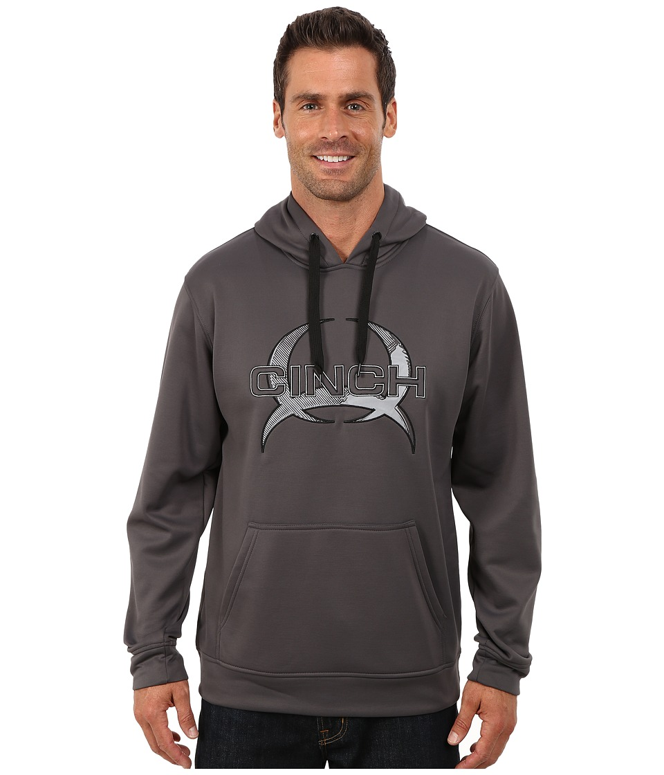 Cinch - Pullover Technical Fleece Hoodie (Grey) Men's Sweatshirt
