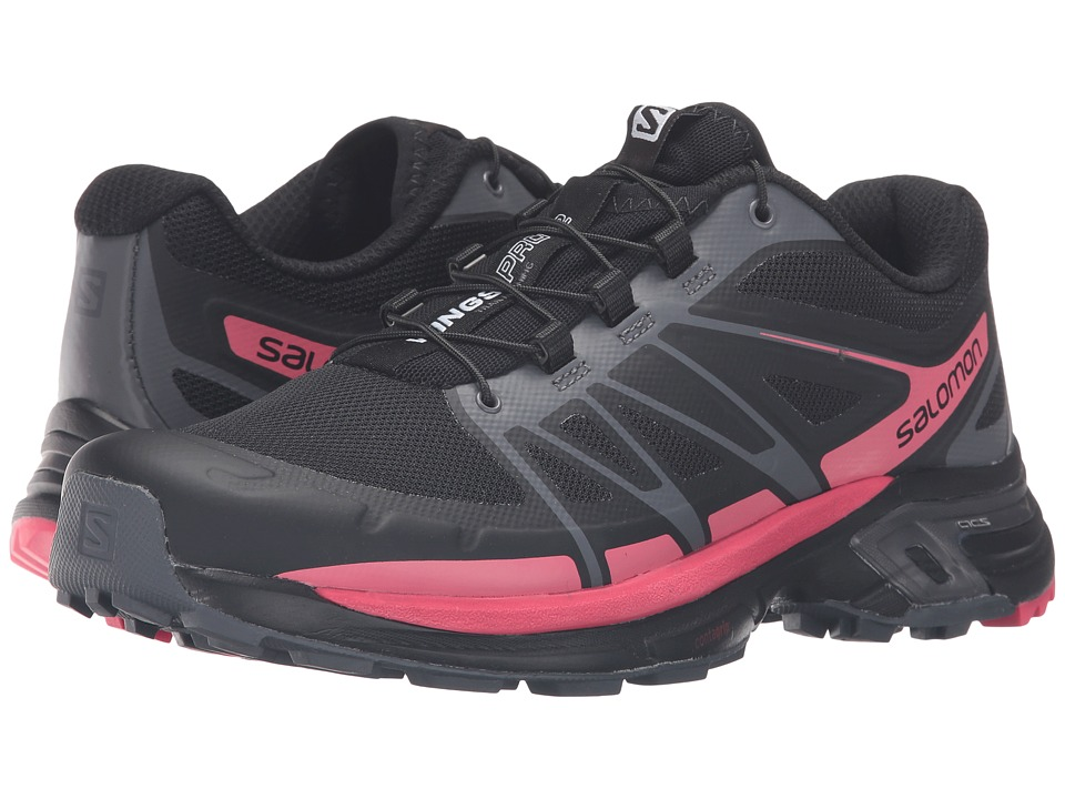 Salomon - Wings Pro 2 (Black/Dark Cloud/Madder Pink) Women's Shoes