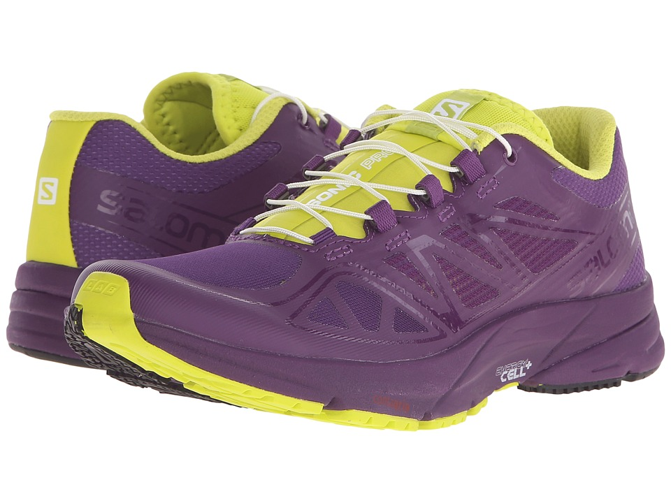 Salomon - Sonic Pro (Cosmic Purple/Cosmic Purple/Gecko Green) Women's Shoes