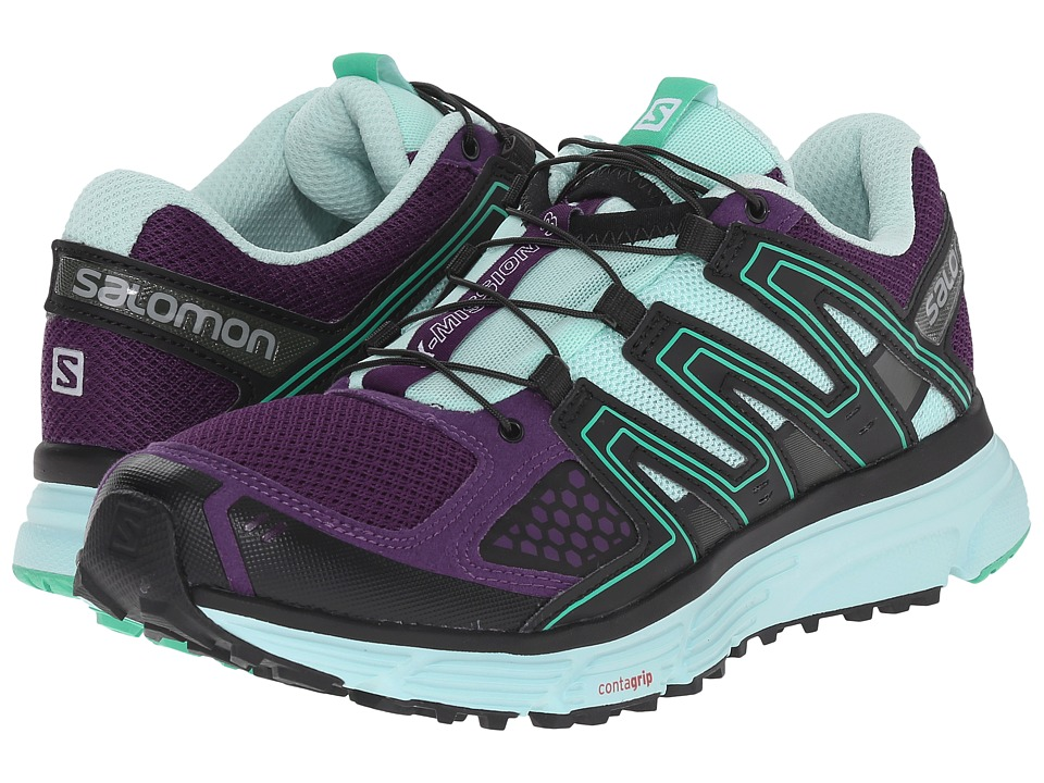 Salomon - X-Mission 3 (Cosmic Purple/Igloo Blue/Jade Green) Women's Shoes