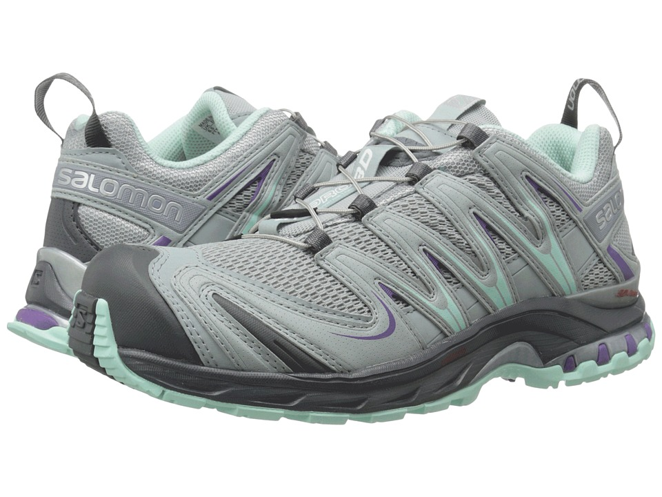 Salomon - XA Pro 3D (Light Onix/Light Onix/Igloo Blue) Women's Running Shoes