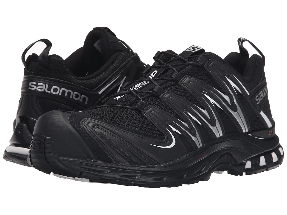 Salomon - XA Pro 3D (Black/Black/White Multi Snake) Women's Running Shoes