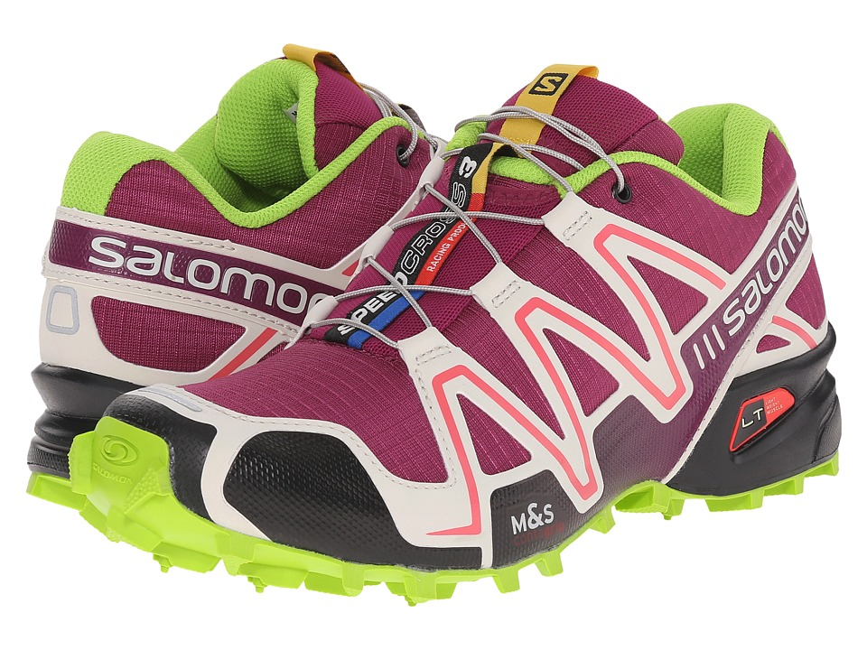 Salomon - Speedcross 3 (Mystic Purple/Light Grey/Granny Green) Women's Running Shoes