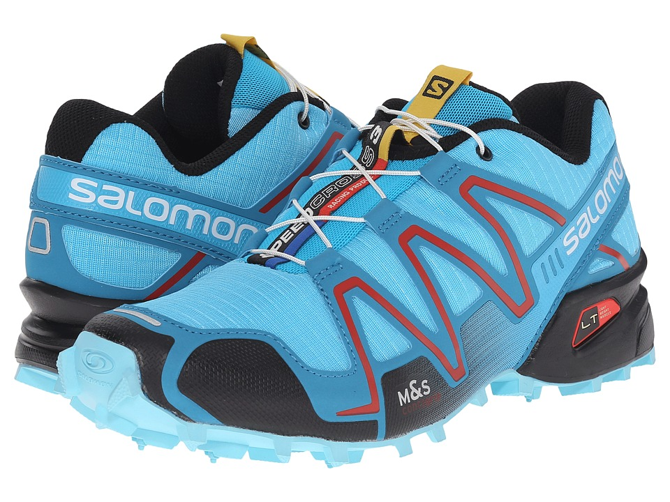 Salomon - Speedcross 3 (Azurin Blue/Fog Blue/Radiant Red) Women's Running Shoes