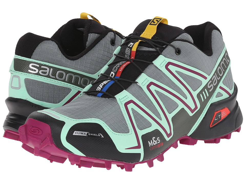 Salomon - Speedcross 3 CS (Light TT/Lucite Green/Mystic Purple) Women's Running Shoes