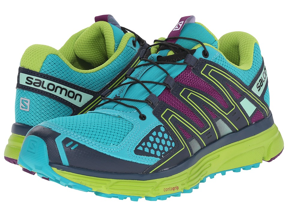 Salomon - X-Mission 3 (Teal Blue/Granny Green/Passion Purple) Women's Shoes