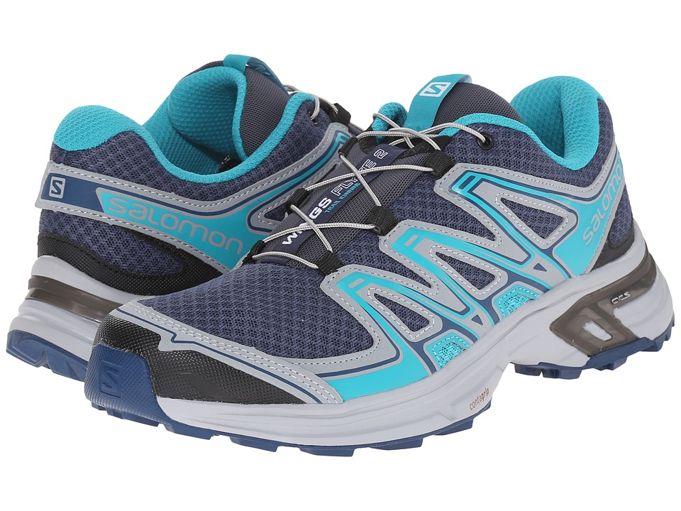 Salomon - Wings Flyte 2 (Slateblue/Light Onix/Teal Blue F) Women's Shoes