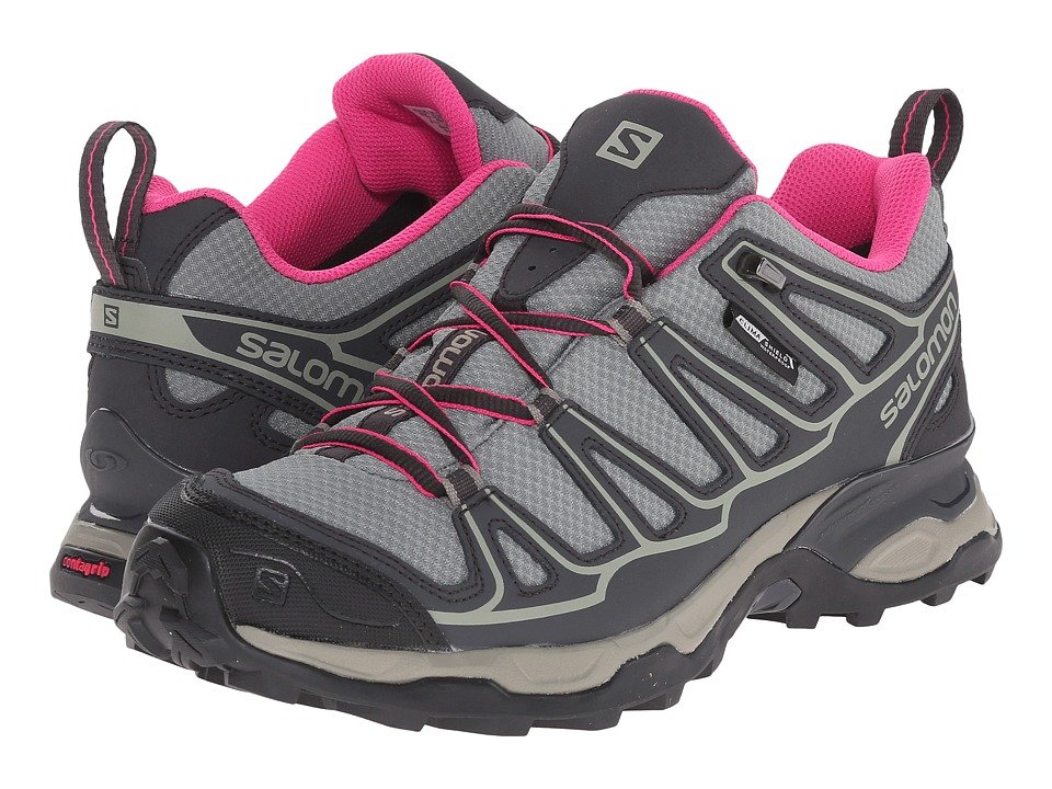 Salomon - X Ultra Prime CS WP (Light TT/Asphalt/Hot Pink) Women's Shoes