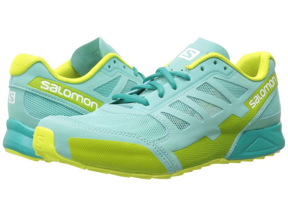 Salomon - City Cross Aero (Bubble Blue/Bubble Blue/Gecko Green) Women's Shoes