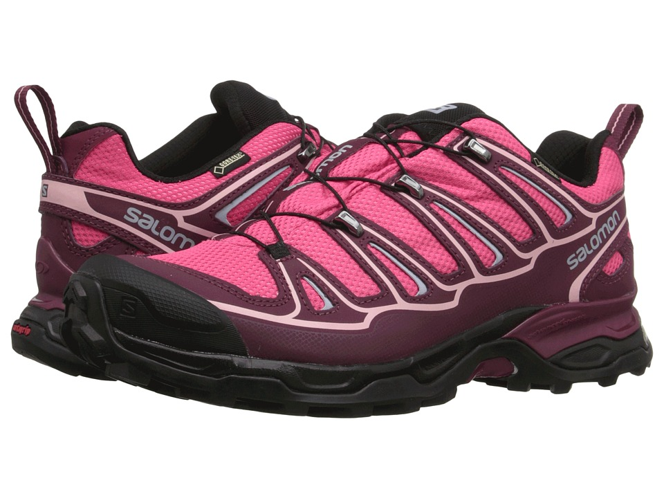 Salomon - X Ultra 2 GTX (Hot Pink/Bordeaux/Pebble Blue) Women's Shoes